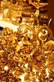 Χρυσά είδωλα βιοτεχνίας από την Ινδία Στοκ εικόνα με δικαίωμα ελεύθερης χρήσης