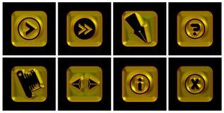 χρυσά εικονίδια Στοκ εικόνες με δικαίωμα ελεύθερης χρήσης
