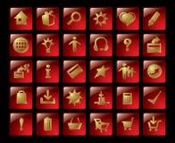 χρυσά εικονίδια Στοκ εικόνα με δικαίωμα ελεύθερης χρήσης