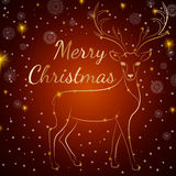 Χρυσά ελάφια Χαρούμενα Χριστούγεννας Στοκ φωτογραφία με δικαίωμα ελεύθερης χρήσης