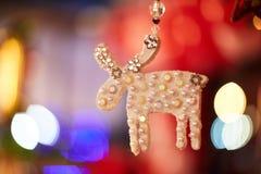 Χρυσά ελάφια Χριστουγέννων Στοκ Εικόνα
