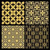 Χρυσά ισπανικά παραδοσιακά κεραμίδια κουζινών διανυσματική απεικόνιση