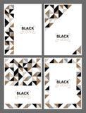 Χρυσά και μαύρα γεωμετρικά πρότυπα Στοκ Εικόνα