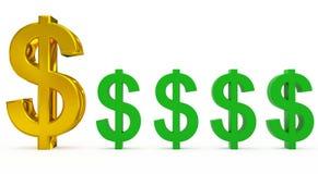 Ανεφοδιασμός δολαρίων διανυσματική απεικόνιση