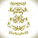 Χρυσά καλλιγραφικά στοιχεία πολυτέλειας Επιλογές, κάρτα, βιβλίο Στοκ εικόνα με δικαίωμα ελεύθερης χρήσης