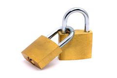 χρυσά κλειδώματα Στοκ Φωτογραφίες