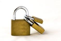 χρυσά κλειδώματα Στοκ φωτογραφίες με δικαίωμα ελεύθερης χρήσης