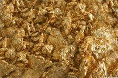 χρυσά κομμάτια καθαρά Στοκ Φωτογραφία