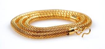 χρυσά κοσμήματα αλυσίδων Στοκ Φωτογραφίες