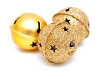 Χρυσά κουδούνια Christms Στοκ φωτογραφία με δικαίωμα ελεύθερης χρήσης