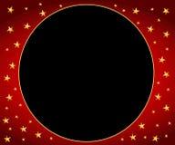 χρυσά κόκκινα αστέρια πλαισίων κύκλων Στοκ εικόνες με δικαίωμα ελεύθερης χρήσης