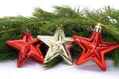 χρυσά κόκκινα αστέρια Στοκ Φωτογραφία