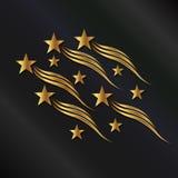 Χρυσά κύματα αστεριών Στοκ εικόνα με δικαίωμα ελεύθερης χρήσης