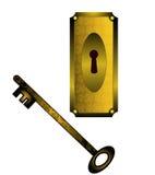 Κλειδαριά και κλειδί Στοκ Φωτογραφία