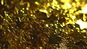 χρυσά λαμπρά αστέρια απόθεμα βίντεο