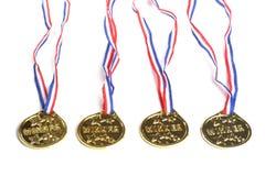 χρυσά μετάλλια Στοκ Εικόνες