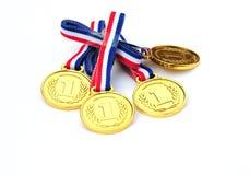 χρυσά μετάλλια Στοκ εικόνα με δικαίωμα ελεύθερης χρήσης