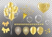 Χρυσά μπαλόνια με μορφή μιας καρδιάς σε ένα υπόβαθρο το shap απεικόνιση αποθεμάτων