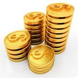 Χρυσά νομίσματα δολαρίων Στοκ Εικόνες