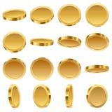Χρυσά νομίσματα καθορισμένα διανυσματική απεικόνιση