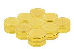 Χρυσά νομίσματα Στοκ εικόνες με δικαίωμα ελεύθερης χρήσης