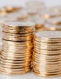Χρυσά νομίσματα Στοκ Εικόνες