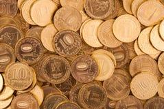 Χρυσά νομίσματα. στοκ εικόνα