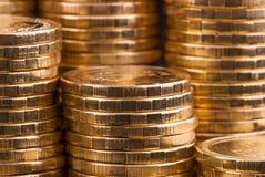 Χρυσά νομίσματα. Στοκ φωτογραφία με δικαίωμα ελεύθερης χρήσης
