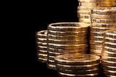 Χρυσά νομίσματα. στοκ φωτογραφία