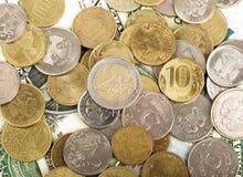 Χρυσά νομίσματα, cloesup Στοκ Εικόνες
