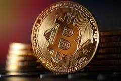Χρυσά νομίσματα crypto του νομίσματος bitcoin Στοκ φωτογραφίες με δικαίωμα ελεύθερης χρήσης