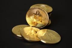 Χρυσά νομίσματα crypto του νομίσματος bitcoin Στοκ εικόνες με δικαίωμα ελεύθερης χρήσης