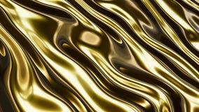 Χρυσά ομαλά κύματα τρισδιάστατα Στοκ εικόνες με δικαίωμα ελεύθερης χρήσης