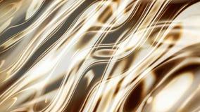 Χρυσά ομαλά κύματα τρισδιάστατα Στοκ φωτογραφία με δικαίωμα ελεύθερης χρήσης