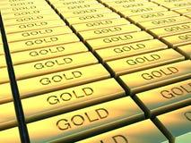 χρυσά πιάτα Στοκ Φωτογραφία