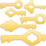 χρυσά πλήκτρα Στοκ Εικόνα