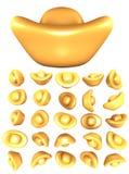χρυσά πλινθώματα Στοκ εικόνα με δικαίωμα ελεύθερης χρήσης