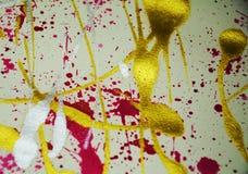 Χρυσά πορφυρά ιώδη κόκκινα χρώματα, αφηρημένο δημιουργικό υπόβαθρο χρωμάτων Στοκ εικόνες με δικαίωμα ελεύθερης χρήσης