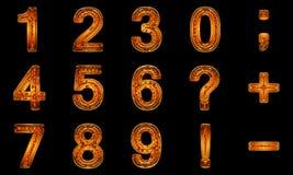 χρυσά σημάδια αριθμών Στοκ Εικόνες
