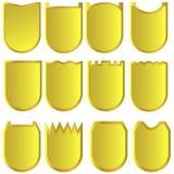 Χρυσά σημάδια Διανυσματική απεικόνιση