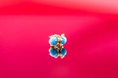 Χρυσά σκουλαρίκια Στοκ φωτογραφία με δικαίωμα ελεύθερης χρήσης
