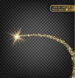 Χρυσά σπινθηρίσματα σε ένα διαφανές υπόβαθρο Χρυσό υπόβαθρο με τα σπινθηρίσματα Χρυσό υπόβαθρο για την κάρτα, VIP, αποκλειστικός, Στοκ Εικόνα