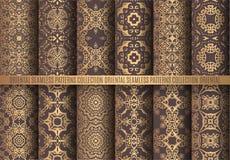 Χρυσά σχέδια Arabesque διανυσματική απεικόνιση