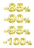 χρυσά τοις εκατό Στοκ Εικόνες