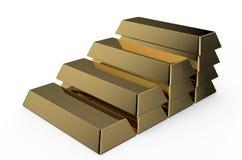 Χρυσά τούβλα ledder Στοκ Εικόνες