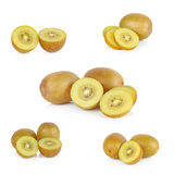 Χρυσά φρούτα ακτινίδιων σε ένα άσπρο υπόβαθρο Στοκ Εικόνες