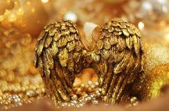Χρυσά φτερά αγγέλου Στοκ εικόνες με δικαίωμα ελεύθερης χρήσης