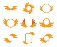 Χρυσά φτερά εικονιδίων Στοκ φωτογραφία με δικαίωμα ελεύθερης χρήσης