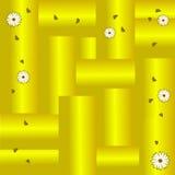 χρυσά φύλλα μαργαριτών ανασκόπησης διανυσματική απεικόνιση