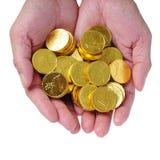 χρυσά χέρια Στοκ Φωτογραφία